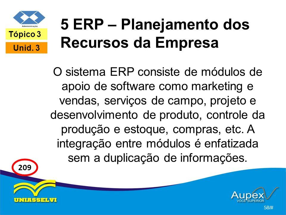 5 ERP – Planejamento dos Recursos da Empresa