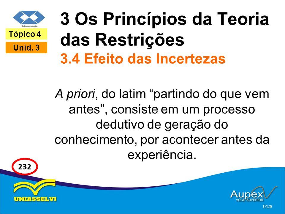 3 Os Princípios da Teoria das Restrições 3.4 Efeito das Incertezas