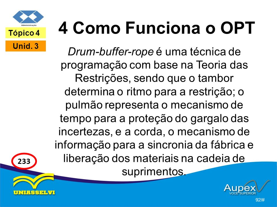 4 Como Funciona o OPT Tópico 4. Unid. 3.