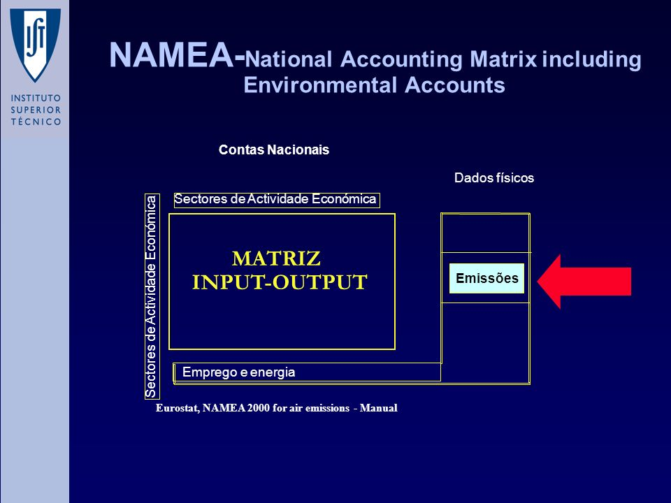 NAMEA-National Accounting Matrix including Environmental Accounts