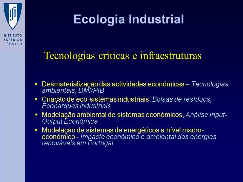 Ecologia Industrial Tecnologias críticas e infraestruturas