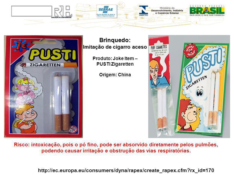 Brinquedo: Imitação de cigarro aceso