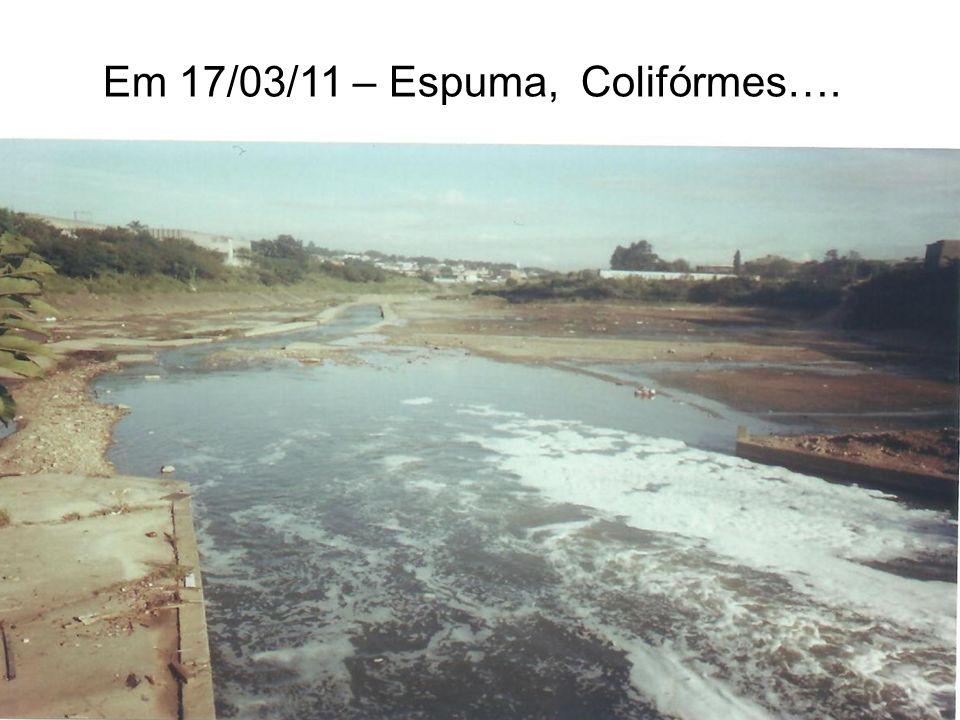 Em 17/03/11 – Espuma, Colifórmes….