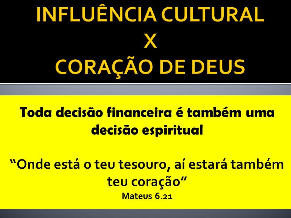 INFLUÊNCIA CULTURAL X CORAÇÃO DE DEUS