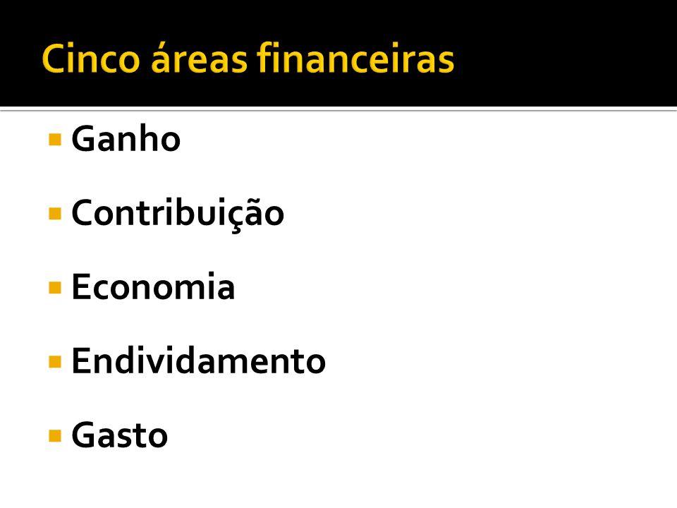 Cinco áreas financeiras