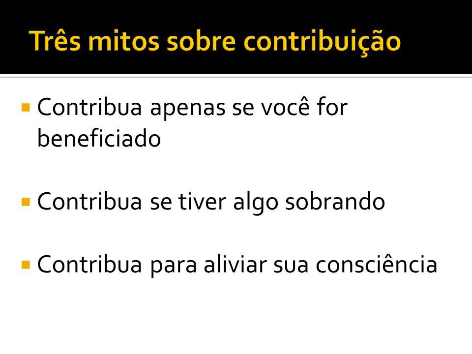 Três mitos sobre contribuição