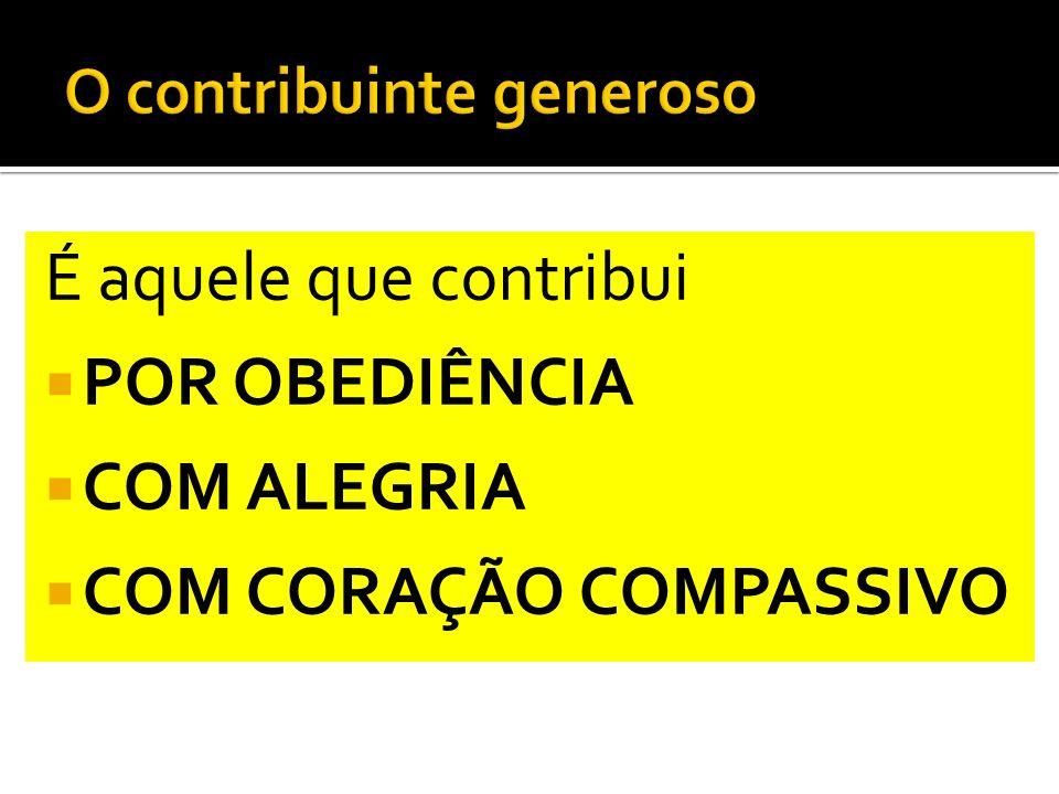 O contribuinte generoso