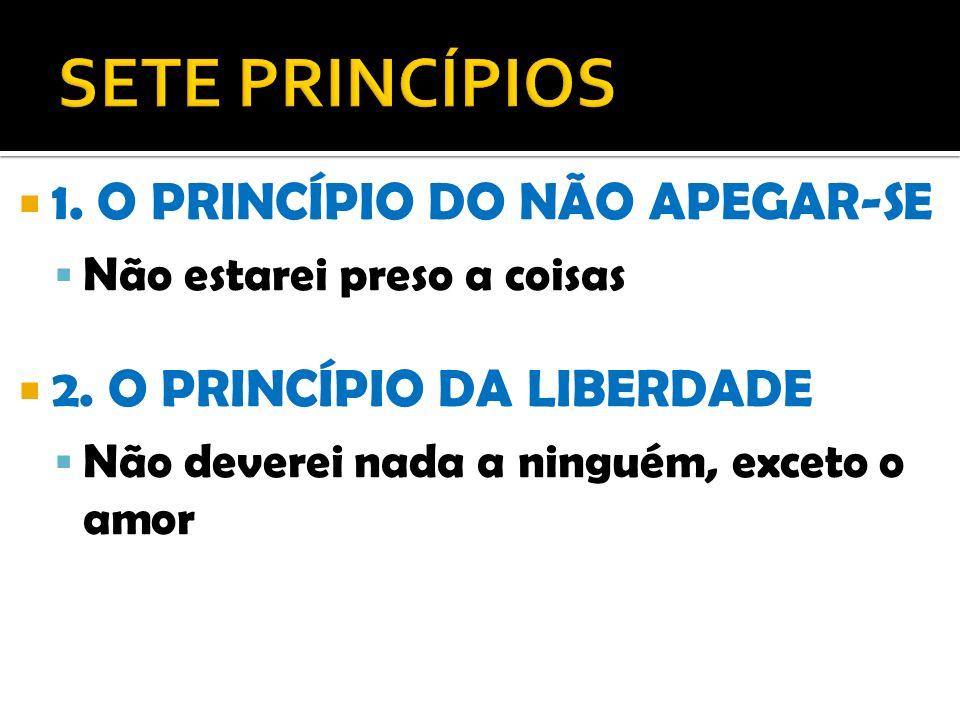 SETE PRINCÍPIOS 1. O PRINCÍPIO DO NÃO APEGAR-SE