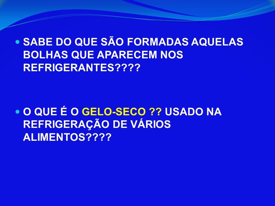 SABE DO QUE SÃO FORMADAS AQUELAS BOLHAS QUE APARECEM NOS REFRIGERANTES