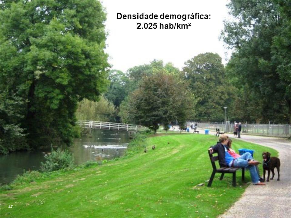 Densidade demográfica: 2.025 hab/km²