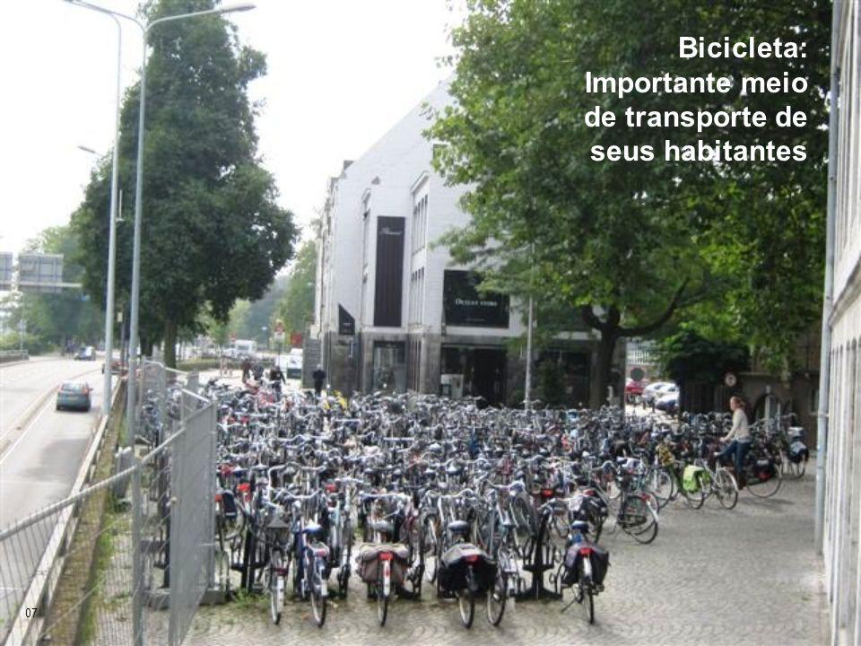 Bicicleta: Importante meio de transporte de seus habitantes
