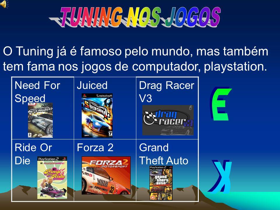 TUNING NOS JOGOS O Tuning já é famoso pelo mundo, mas também tem fama nos jogos de computador, playstation.