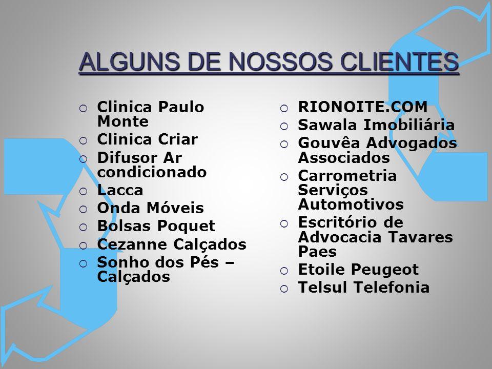 ALGUNS DE NOSSOS CLIENTES