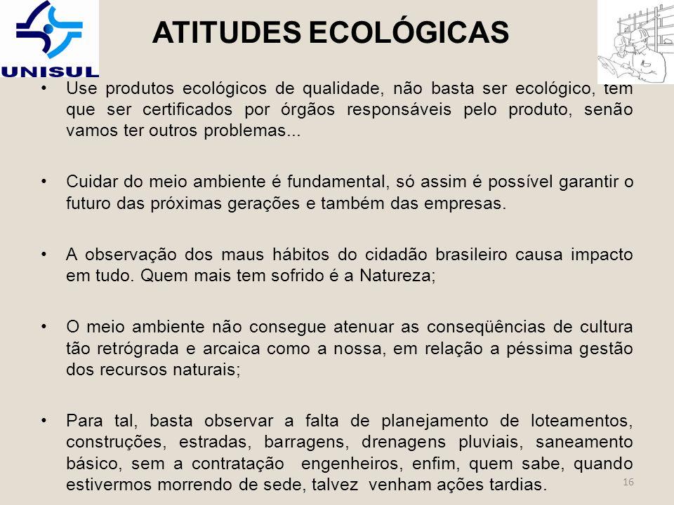 ATITUDES ECOLÓGICAS