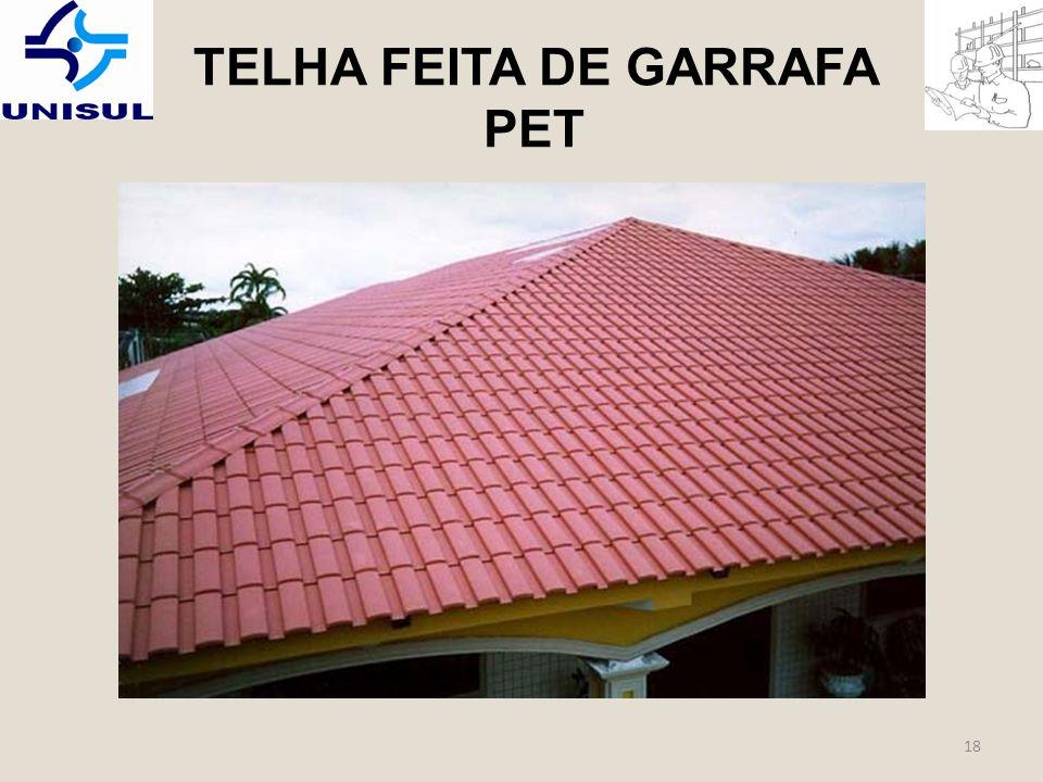 TELHA FEITA DE GARRAFA PET
