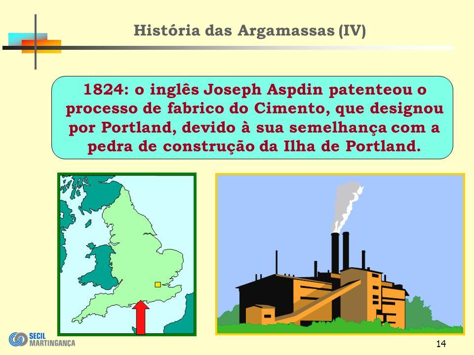 História das Argamassas (IV)