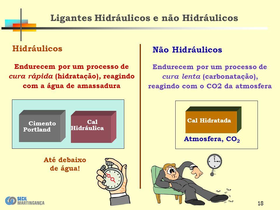 Ligantes Hidráulicos e não Hidráulicos