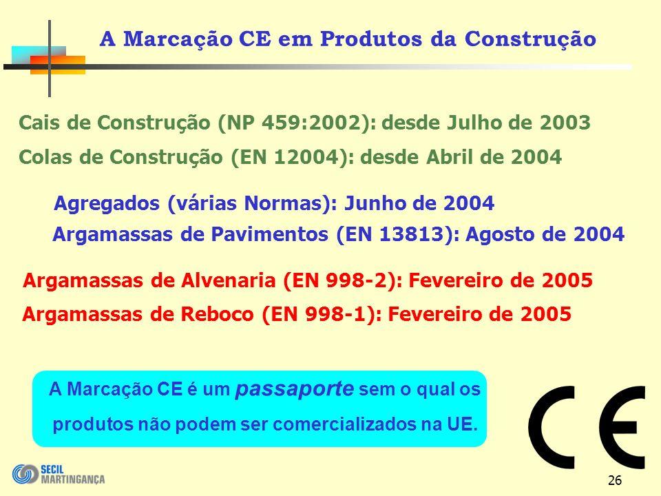 A Marcação CE em Produtos da Construção