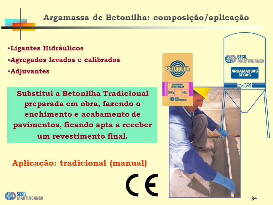 Argamassa de Betonilha: composição/aplicação