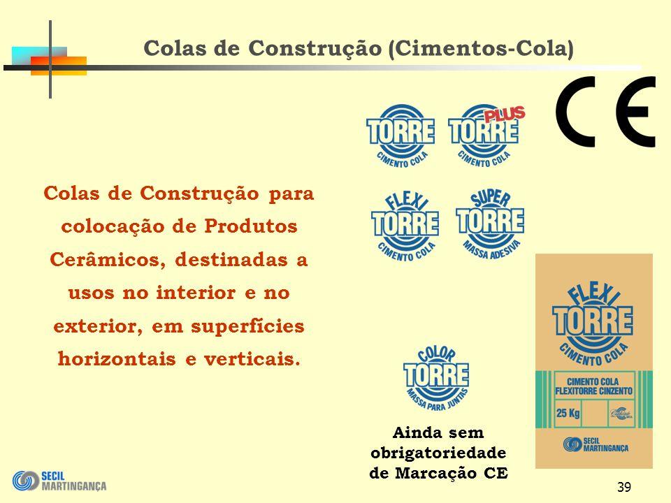 Colas de Construção (Cimentos-Cola)
