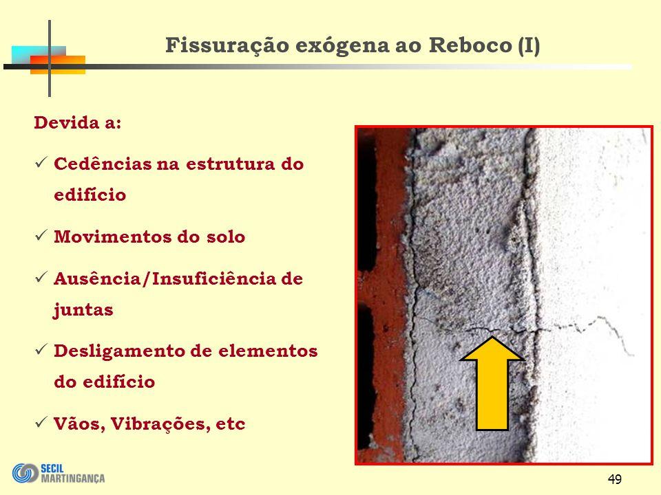 Fissuração exógena ao Reboco (I)