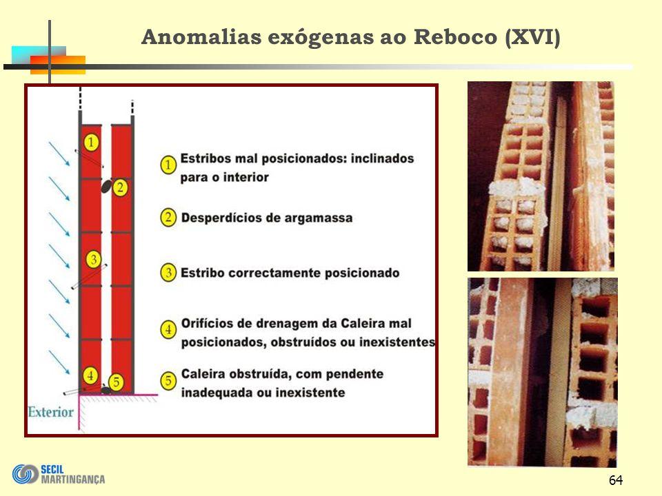 Anomalias exógenas ao Reboco (XVI)