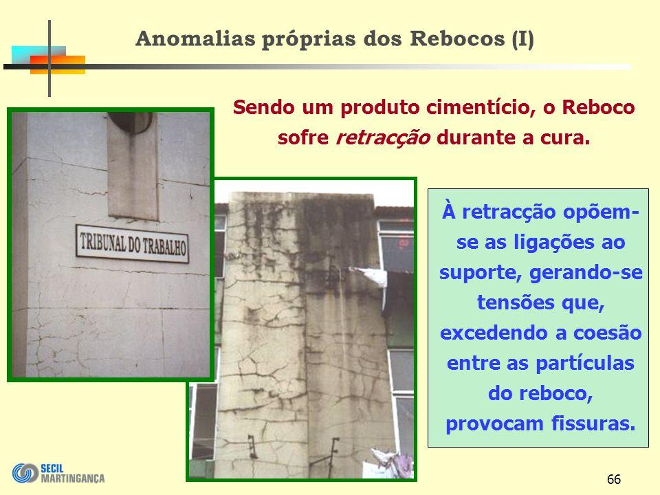 Anomalias próprias dos Rebocos (I)