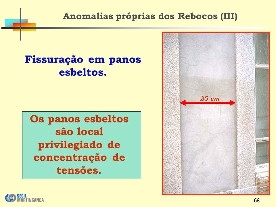 Anomalias próprias dos Rebocos (III) Fissuração em panos esbeltos.