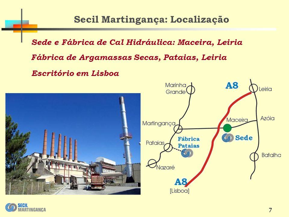 Secil Martingança: Localização