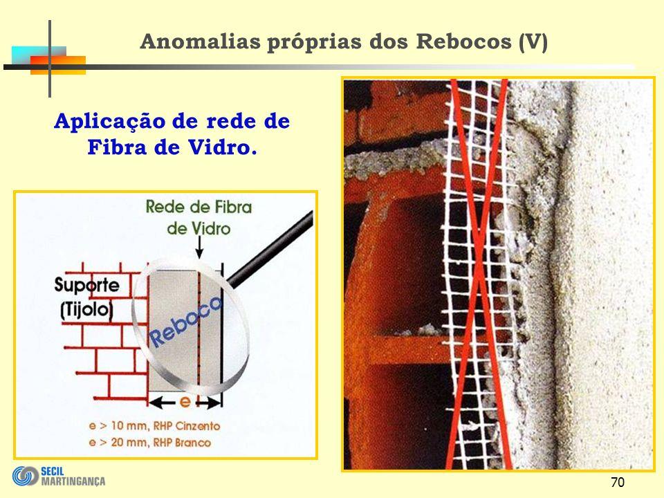 Anomalias próprias dos Rebocos (V)