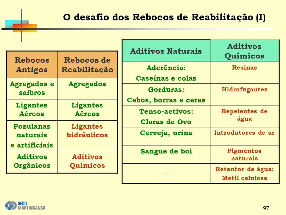 O desafio dos Rebocos de Reabilitação (I) Rebocos de Reabilitação