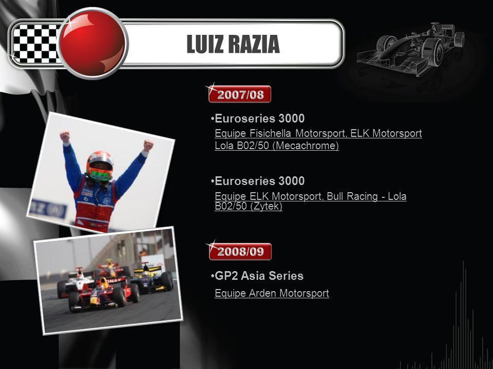 LUIZ RAZIA Euroseries 3000 GP2 Asia Series 2007/08 2008/09
