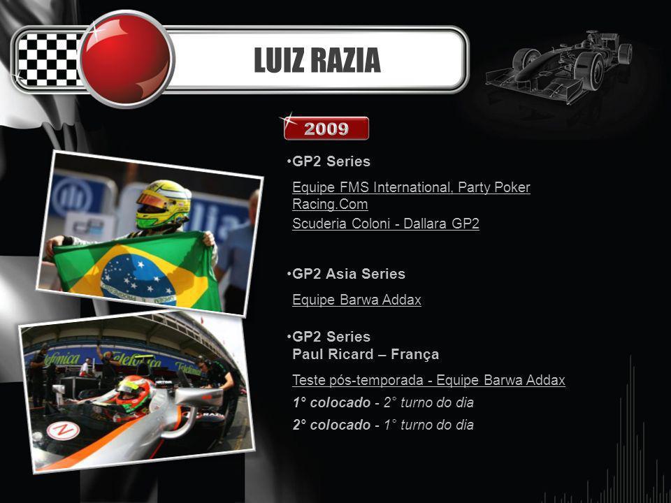 LUIZ RAZIA 2009 GP2 Series GP2 Asia Series Paul Ricard – França