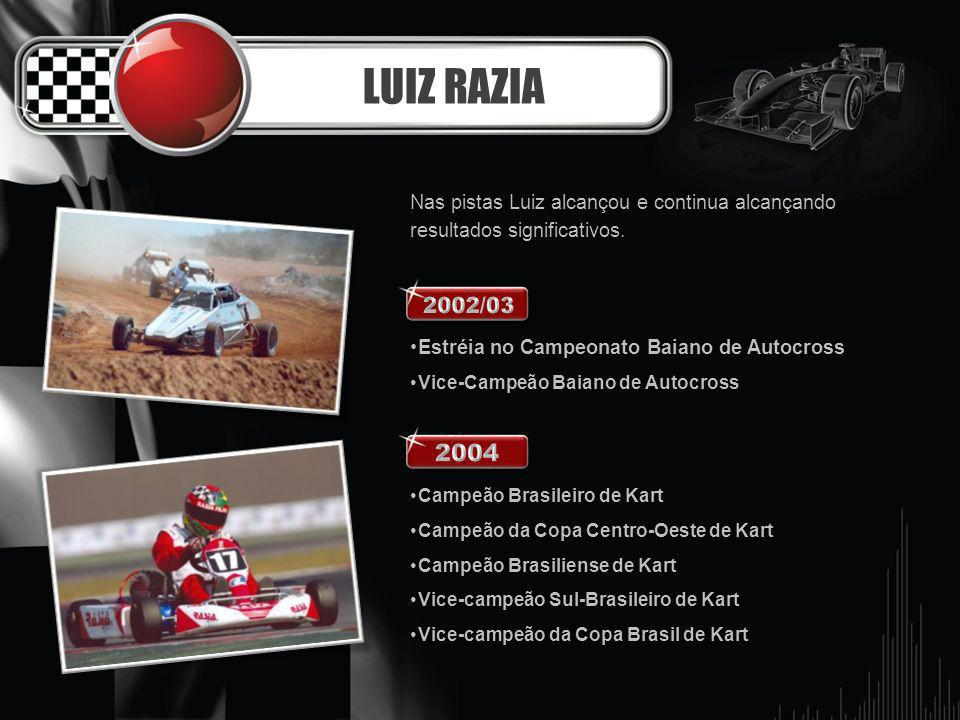 LUIZ RAZIA Nas pistas Luiz alcançou e continua alcançando resultados significativos. Estréia no Campeonato Baiano de Autocross.