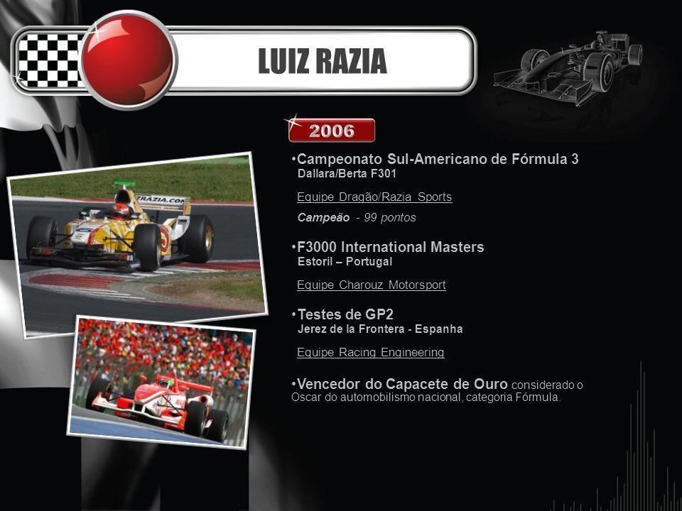 LUIZ RAZIA 2006 Campeonato Sul-Americano de Fórmula 3
