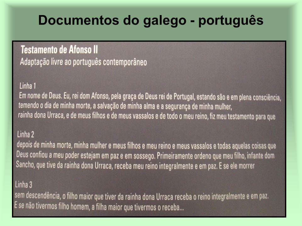 Documentos do galego - português