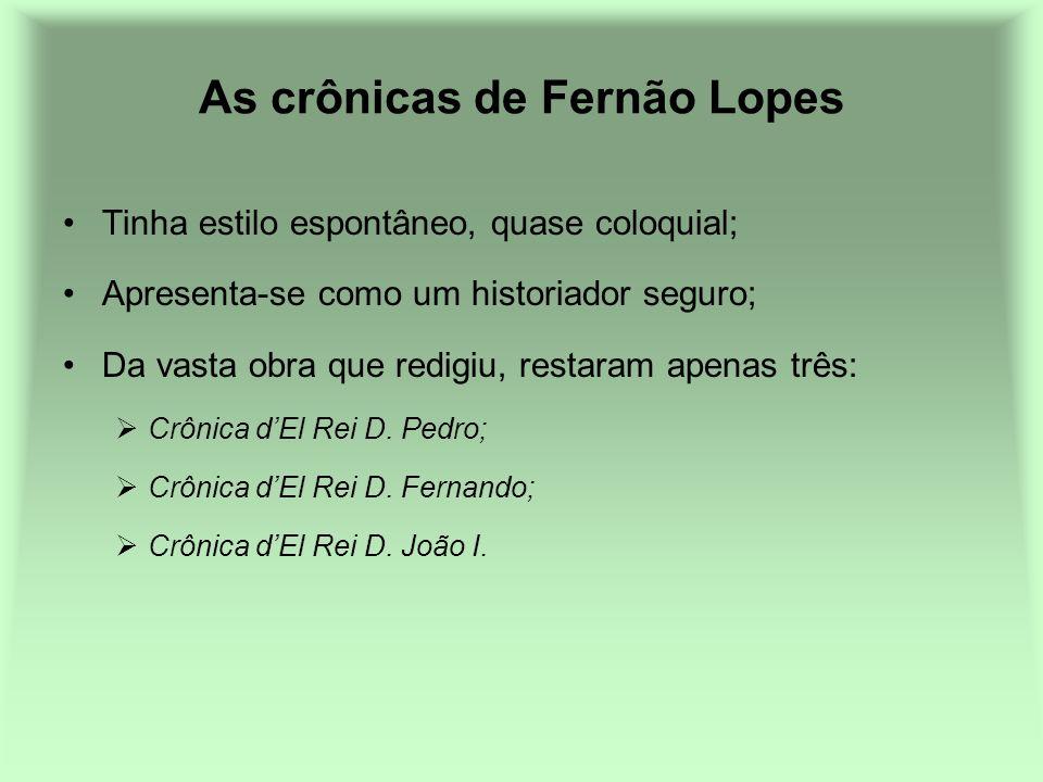 As crônicas de Fernão Lopes