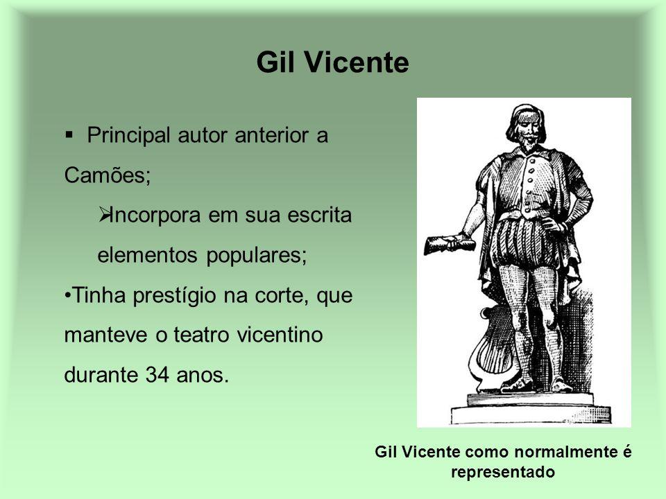 Gil Vicente como normalmente é representado