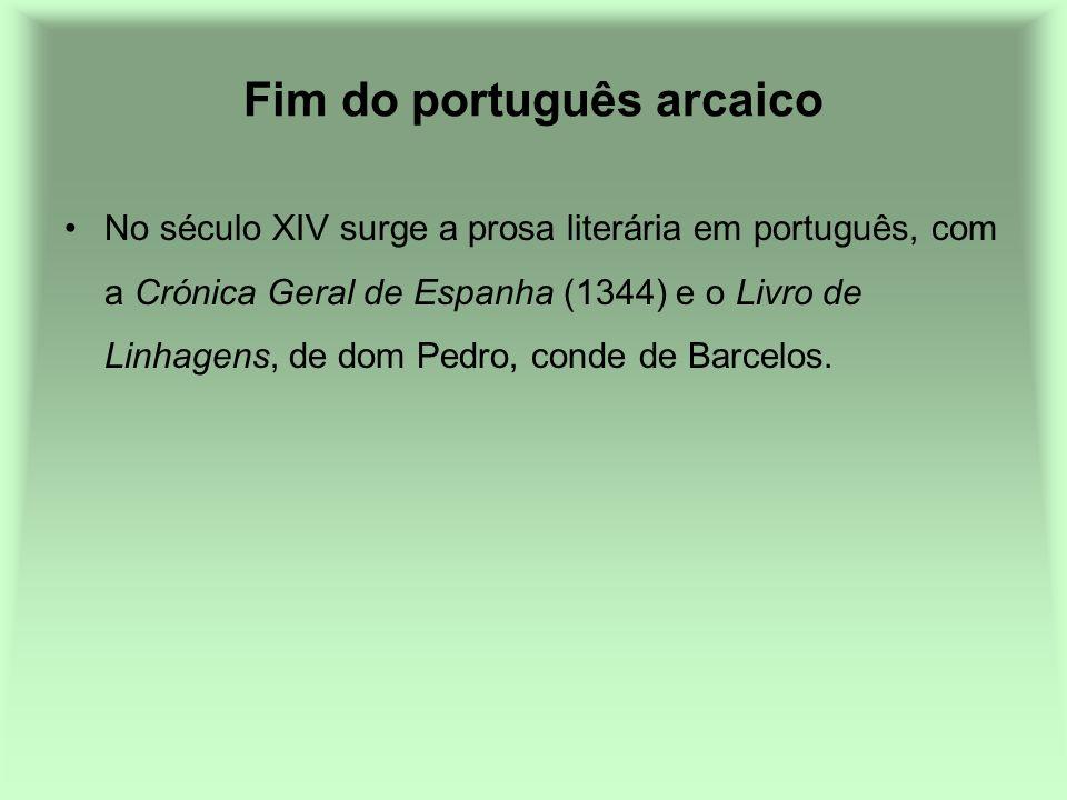 Fim do português arcaico