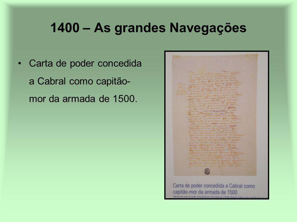 1400 – As grandes Navegações