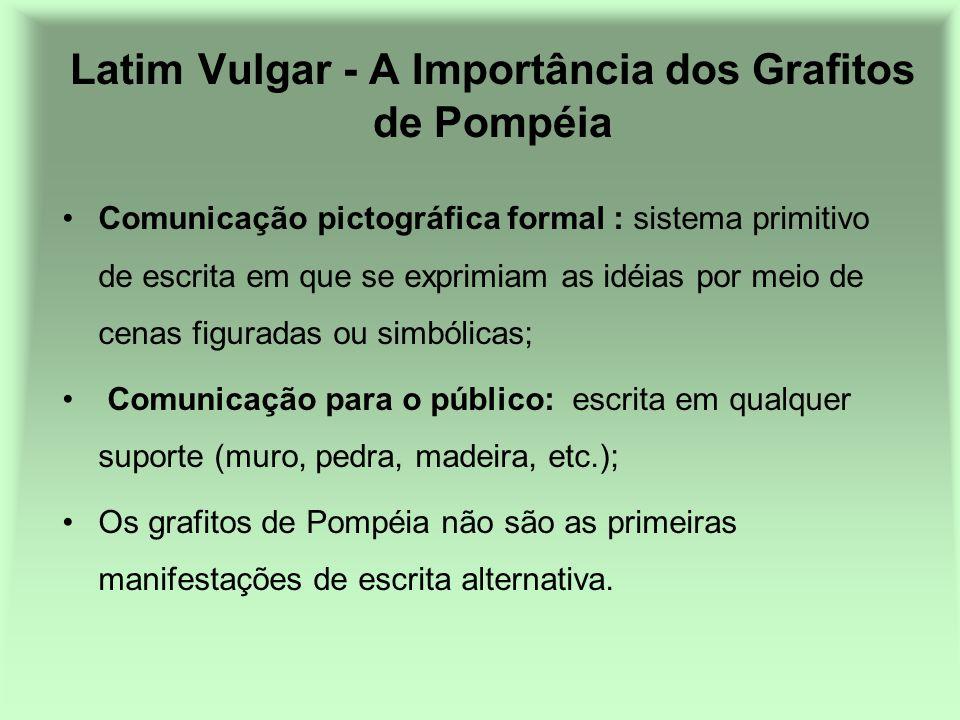 Latim Vulgar - A Importância dos Grafitos de Pompéia