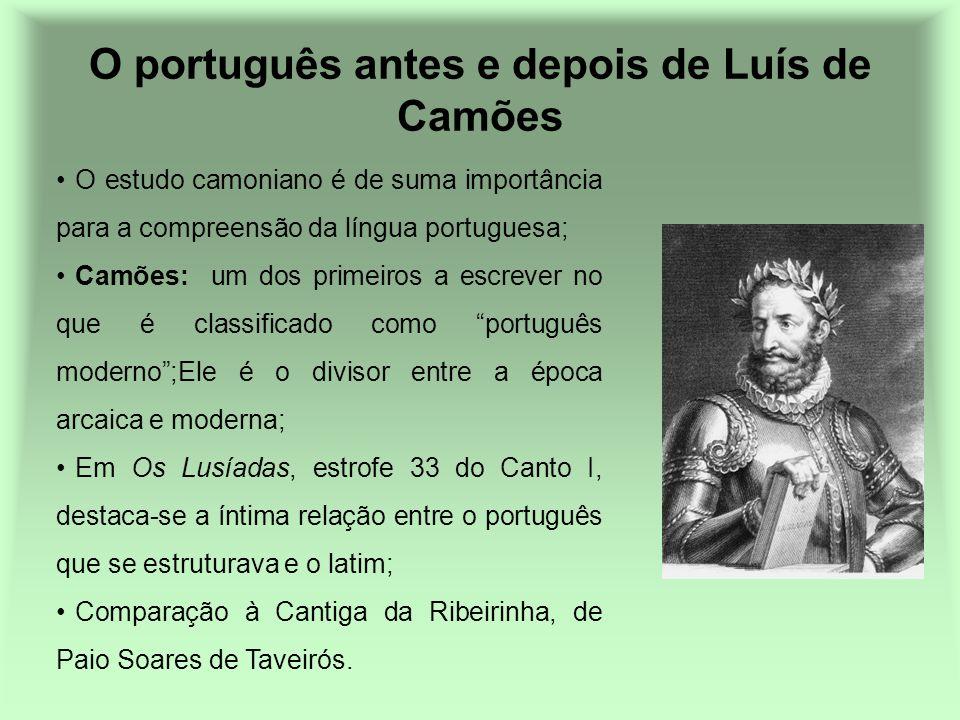 O português antes e depois de Luís de Camões