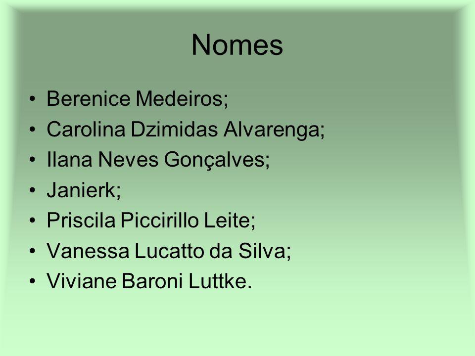 Nomes Berenice Medeiros; Carolina Dzimidas Alvarenga;