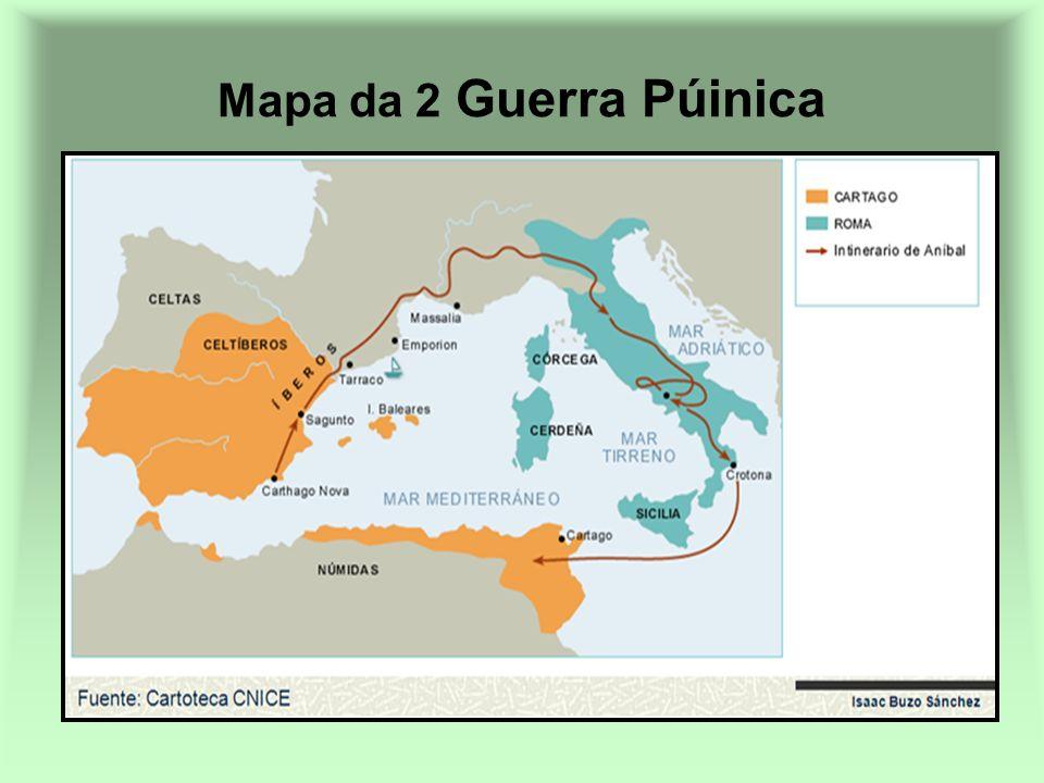 Mapa da 2 Guerra Púinica