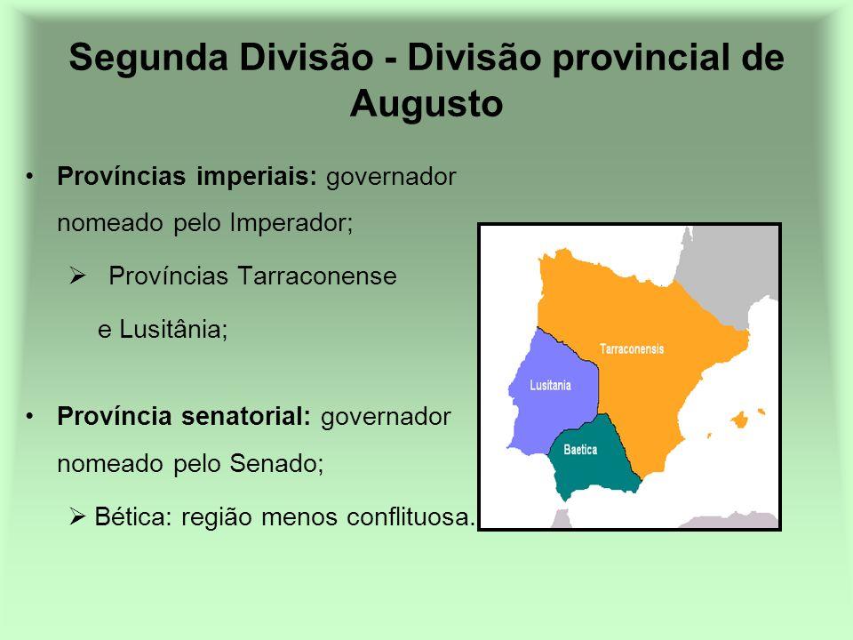 Segunda Divisão - Divisão provincial de Augusto