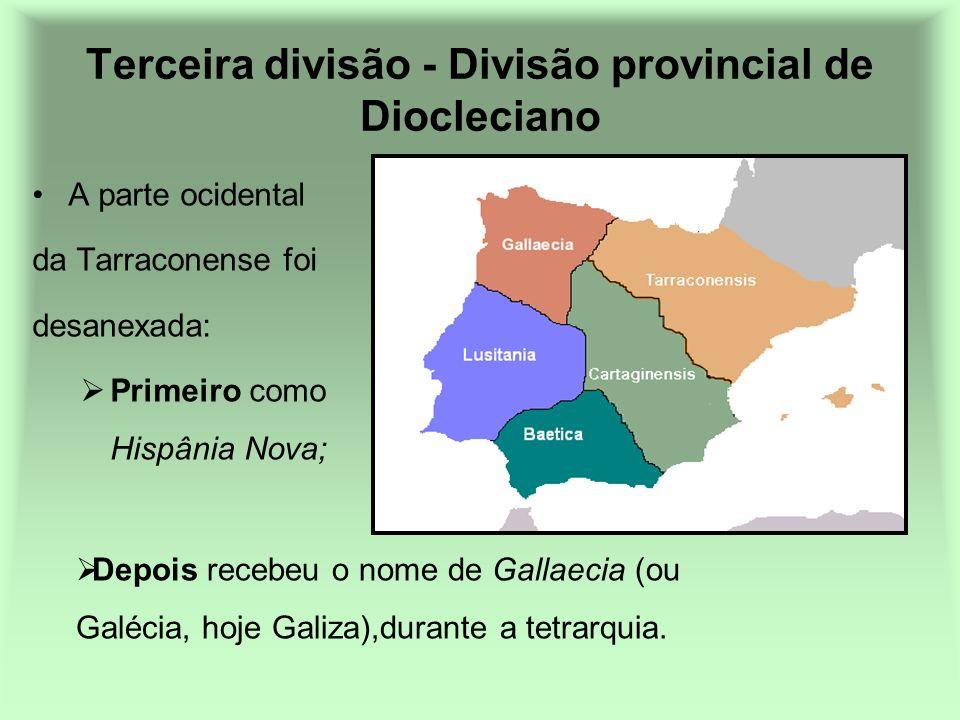 Terceira divisão - Divisão provincial de Diocleciano