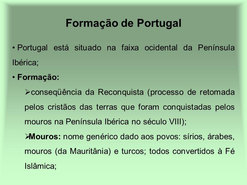 Formação de Portugal Portugal está situado na faixa ocidental da Península Ibérica; Formação: