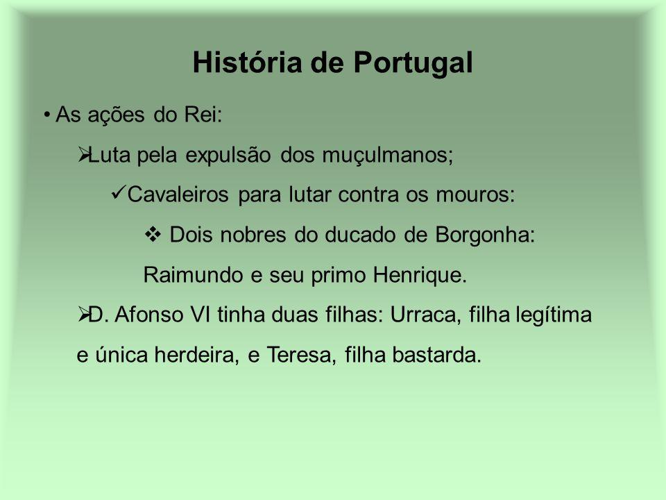 História de Portugal As ações do Rei:
