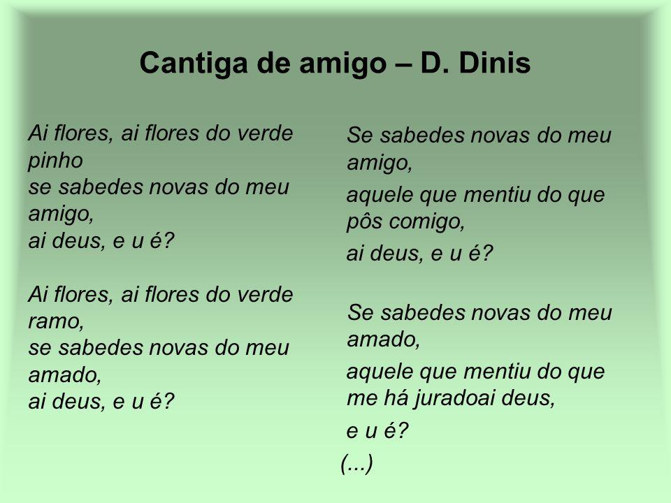 Cantiga de amigo – D. Dinis