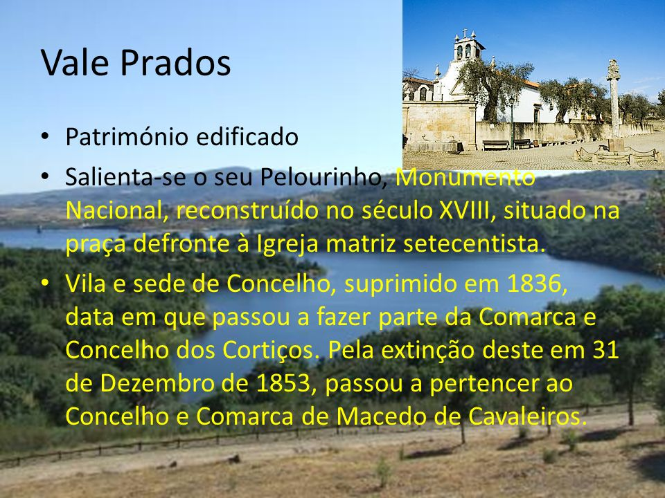 Vale Prados Património edificado